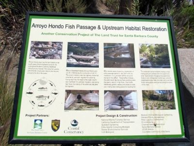 Arroyo Hondo Fish Passage & Upstream Habitat Restoration Marker image. Click for full size.