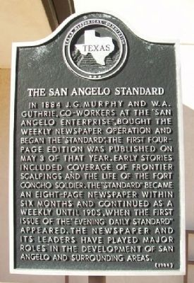 The San Angelo Standard Marker image. Click for full size.