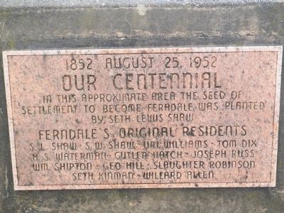 Our Centennial Marker image. Click for full size.