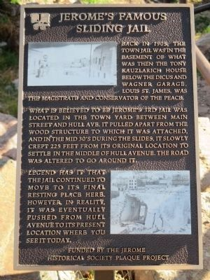 Jerome's Famous Sliding Jail Marker image. Click for full size.