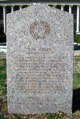 Tom Green Monument (Side A) image. Click for full size.