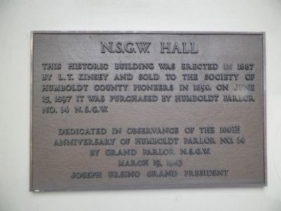 N.S.G.W. Hall Marker image. Click for full size.