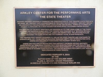Arkley Center for the Performing Arts Marker image. Click for full size.