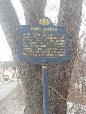 Fort Antes Marker image. Click for full size.