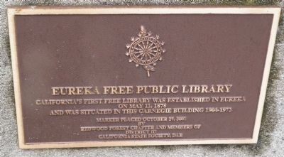 Eureka Free Public Library Marker image. Click for full size.