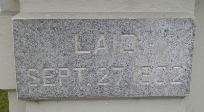 The Eureka Carnegie Free Library Cornerstone image. Click for full size.
