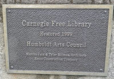 Humboldt Arts Council Plaque image. Click for full size.