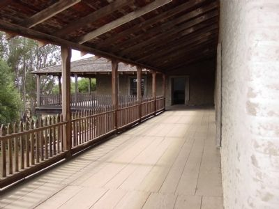 Vallejo's Petaluma Adobe Balcony image. Click for full size.