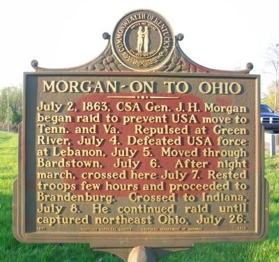 Morgan ~ On To Ohio Marker image. Click for full size.