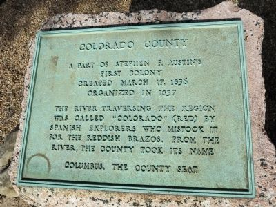 Colorado County Marker image. Click for full size.