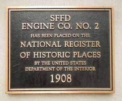 SFFD Engine Co. No. 2 Marker image. Click for full size.