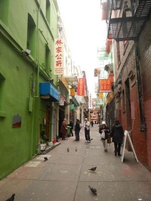Alleyways in Chinatown Marker image. Click for full size.