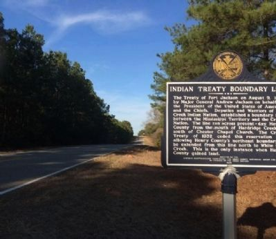 Marker Area along Alabama 95 image. Click for full size.