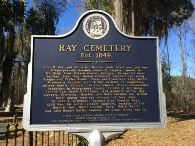 Ray Cemetery Marker image. Click for full size.