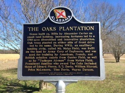 The Oaks Plantation Marker image. Click for full size.