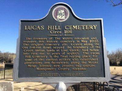 Lucas Hill Cemetery Marker image. Click for full size.