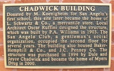 Chadwick Building Marker image. Click for full size.