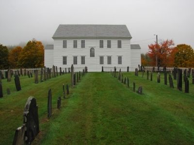 Rockingham Meeting House & cemetery image. Click for full size.