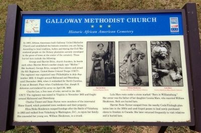 Galloway Methodist Church Marker image. Click for full size.