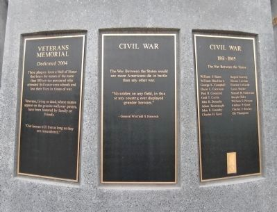 Veterans Memorial Plaques image. Click for full size.