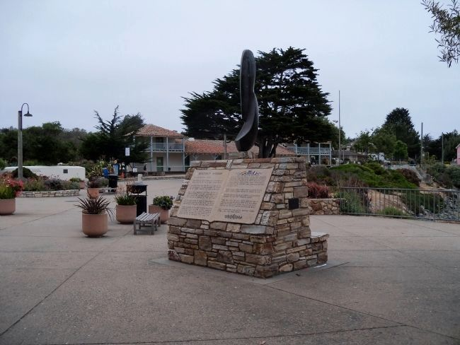 Monterey Harbor Monument with the Custom House image. Click for full size.