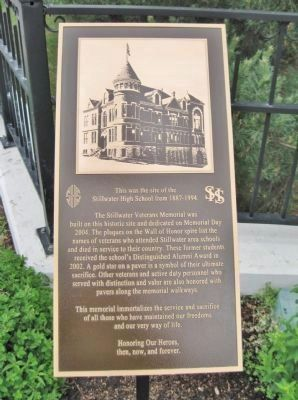 Site of the Stillwater High School Marker image. Click for full size.