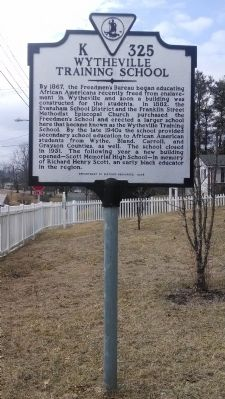 Wytheville Training School Marker image. Click for full size.