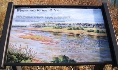 <i>Westwardly by the Waters</i> Marker image. Click for full size.