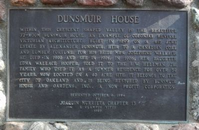 Dunsmuir House Marker image. Click for full size.