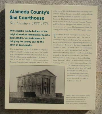 Alameda County's 2nd Courthouse Marker image. Click for full size.
