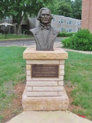 Bust of Joseph R. Brown image. Click for full size.