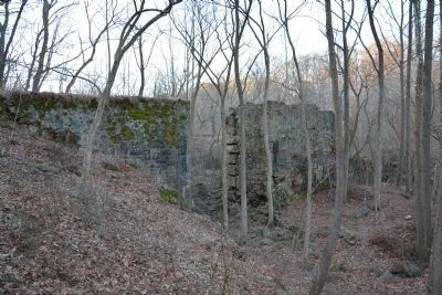 Ruins of dam used for Laurel Mill image. Click for full size.