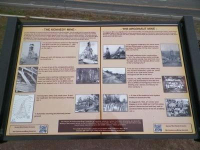 The Kennedy Mine / The Argonaut Mine Marker image. Click for full size.