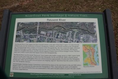 Patuxent River Marker image. Click for full size.