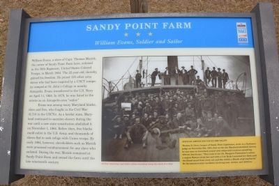 Sandy Point Farm Marker image. Click for full size.