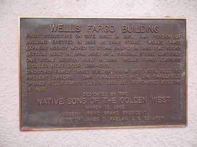 The Wells Fargo Building Marker image. Click for full size.