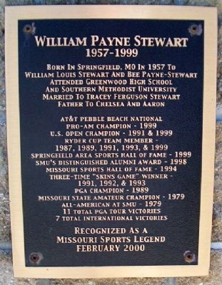 William Payne Stewart Marker image. Click for full size.