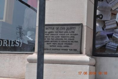 Battle of the Bluffs Marker image. Click for full size.