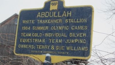 Abdullah Marker image. Click for full size.