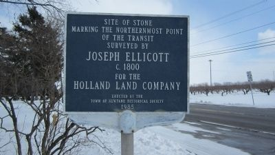 Northern Endpoint of Transit Surveyed by Joseph Ellicott Marker image. Click for full size.