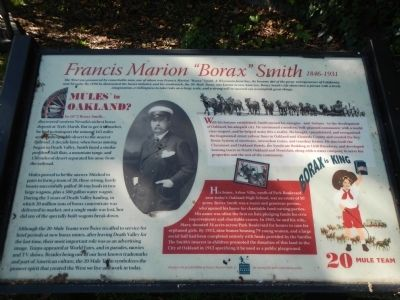 "Francis Marion ""Borax"" Smith Marker image. Click for full size."