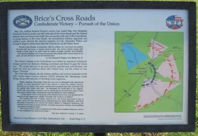 Brice's Cross Roads: Confederate Victory - Pursuit of the Union Marker image. Click for full size.