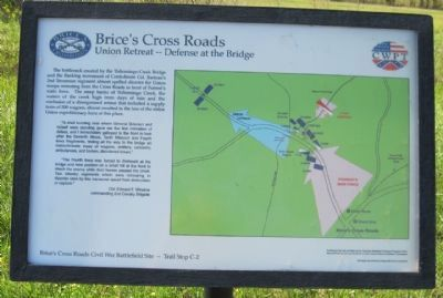 Brice's Cross Roads: Union Defeat - Defense at the Bridge Marker image. Click for full size.