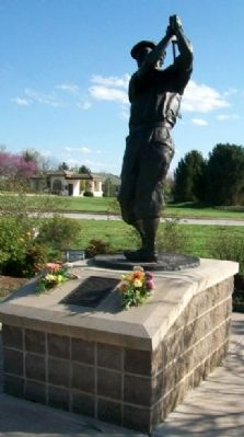 William Payne Stewart Marker and Statue image. Click for full size.