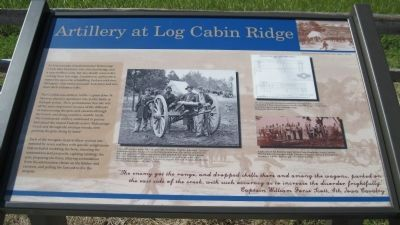 Artillery at Log Cabin Ridge Marker image. Click for full size.