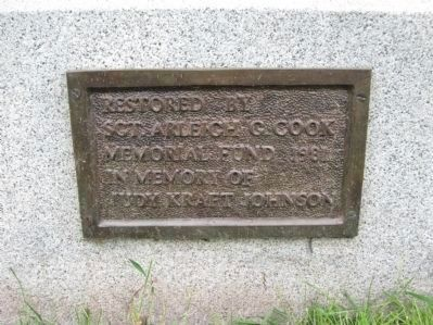 Monument Restoration Plaque image. Click for full size.