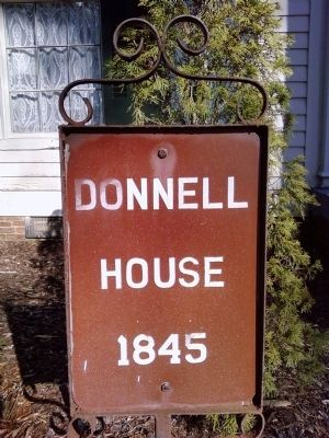 Donnell House marker image. Click for full size.