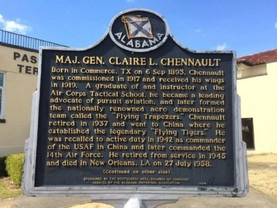 Maj. Gen. Claire L. Chennault Marker image. Click for full size.