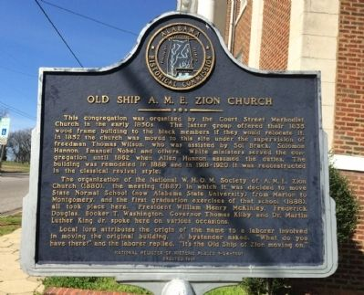 Old Ship A.M.E. Zion Church Marker image. Click for full size.