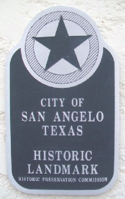 San Angelo Lodge No. 570, A.F.&A.M. Landmark Marker image. Click for full size.
